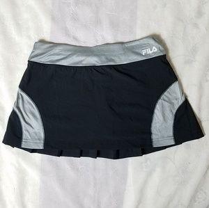 Fila Black and Gray Active Wear Skort Size M